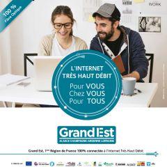Grand Est : 1ère région de France 100% connectée
