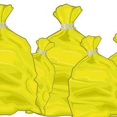 Au mois de février, la collecte des sacs jaunes à Rouceux aura lieu les vendredis