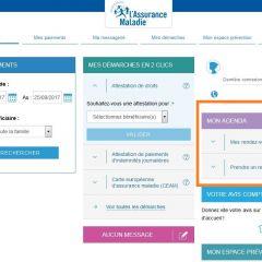 Nouveauté sur le compte ameli : programmez en ligne votre rendez-vous